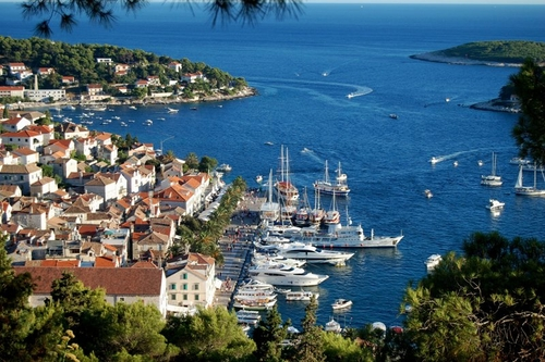 When you start sailing from Split, the famous island Hvar is just 3 hours away