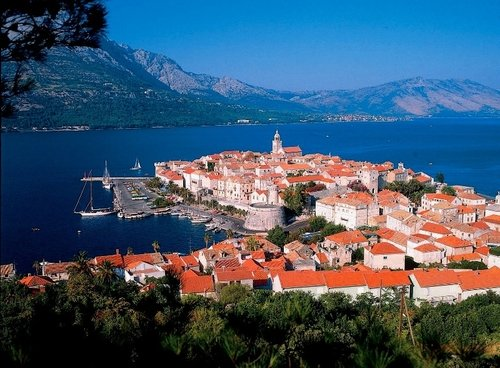 Sailing in Korcula, Croatia