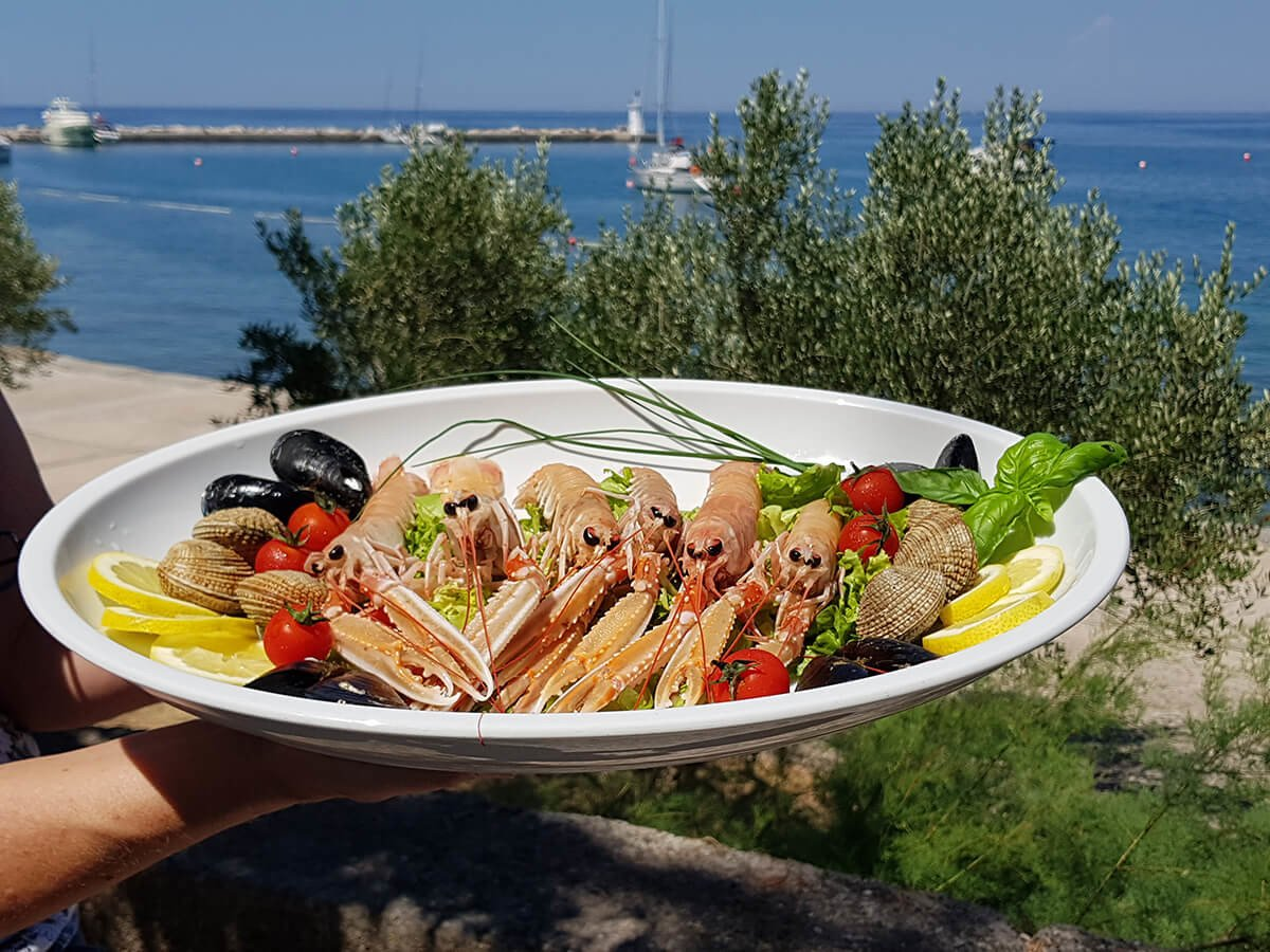 One of the must-try grilled dishes are freshly caught Scampi from Kvarner
