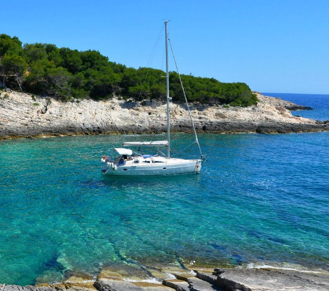 Swim or snorkel in secluded cove on  Vis