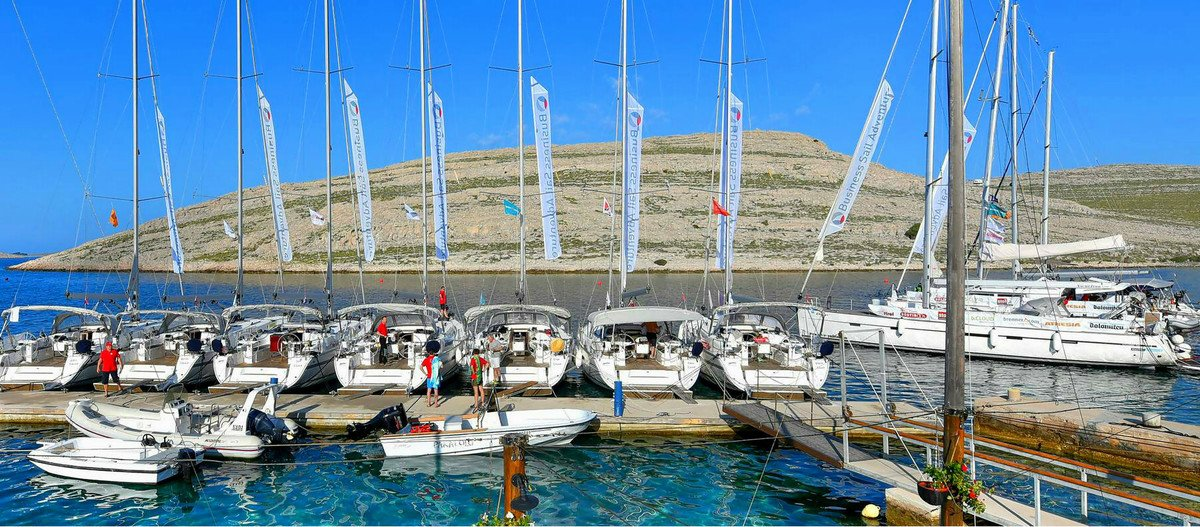 Our flotilla sailing from Zadar to Kornati islands