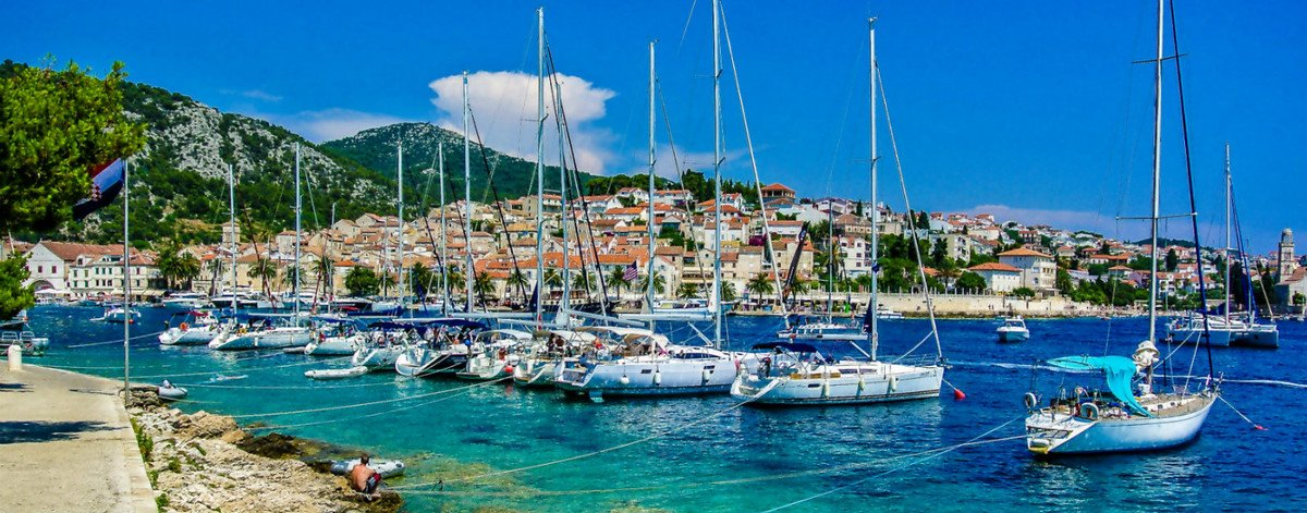 Rent a yacht from Split and discover the famous Hvar