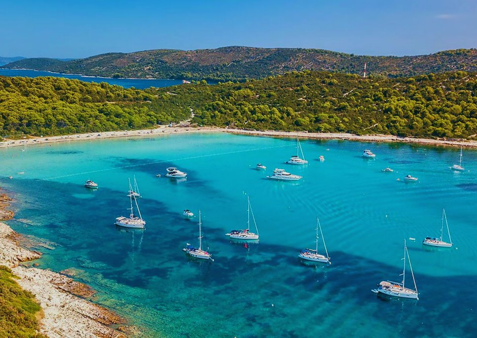 Top sailing places in Croatia  - Saharun cove near Zadar