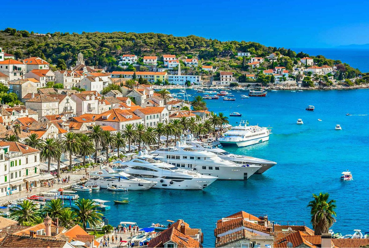 Hvar port. The place to see and be seen.