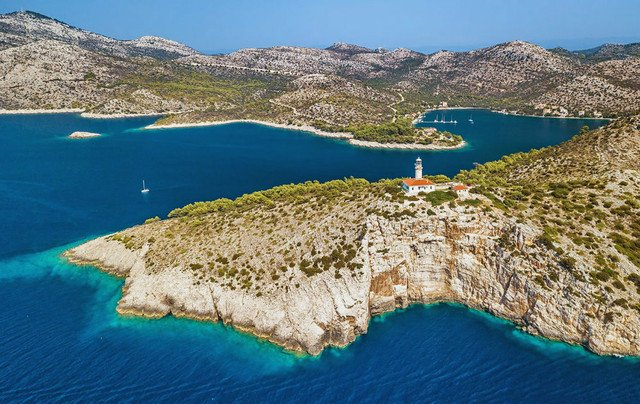 The rugged Lastovo island