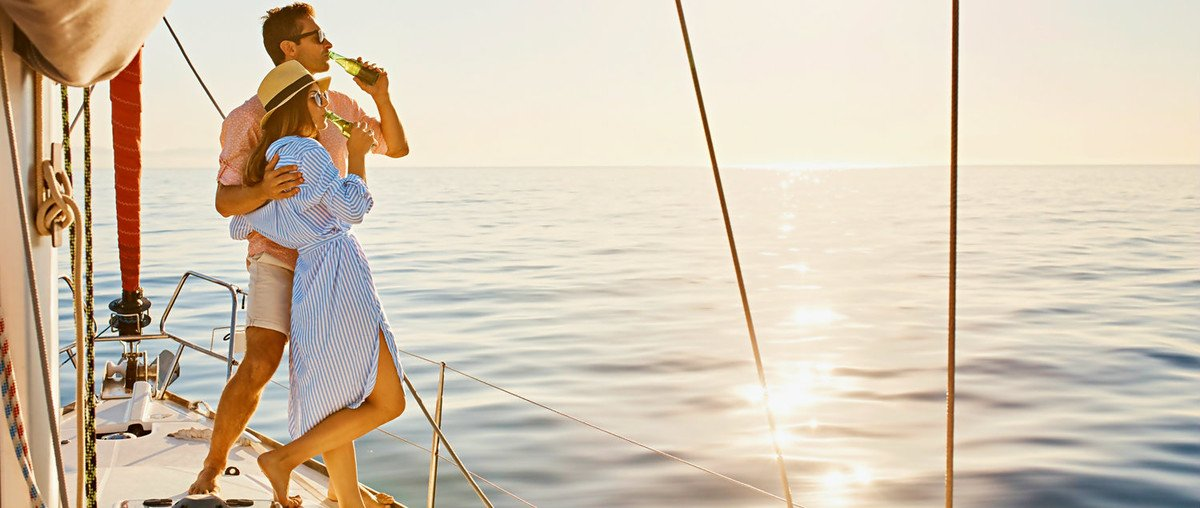 Mediterranean honeymoon yacht holidays. Taking a sailing trip in Croatia is the perfect choice for couples.