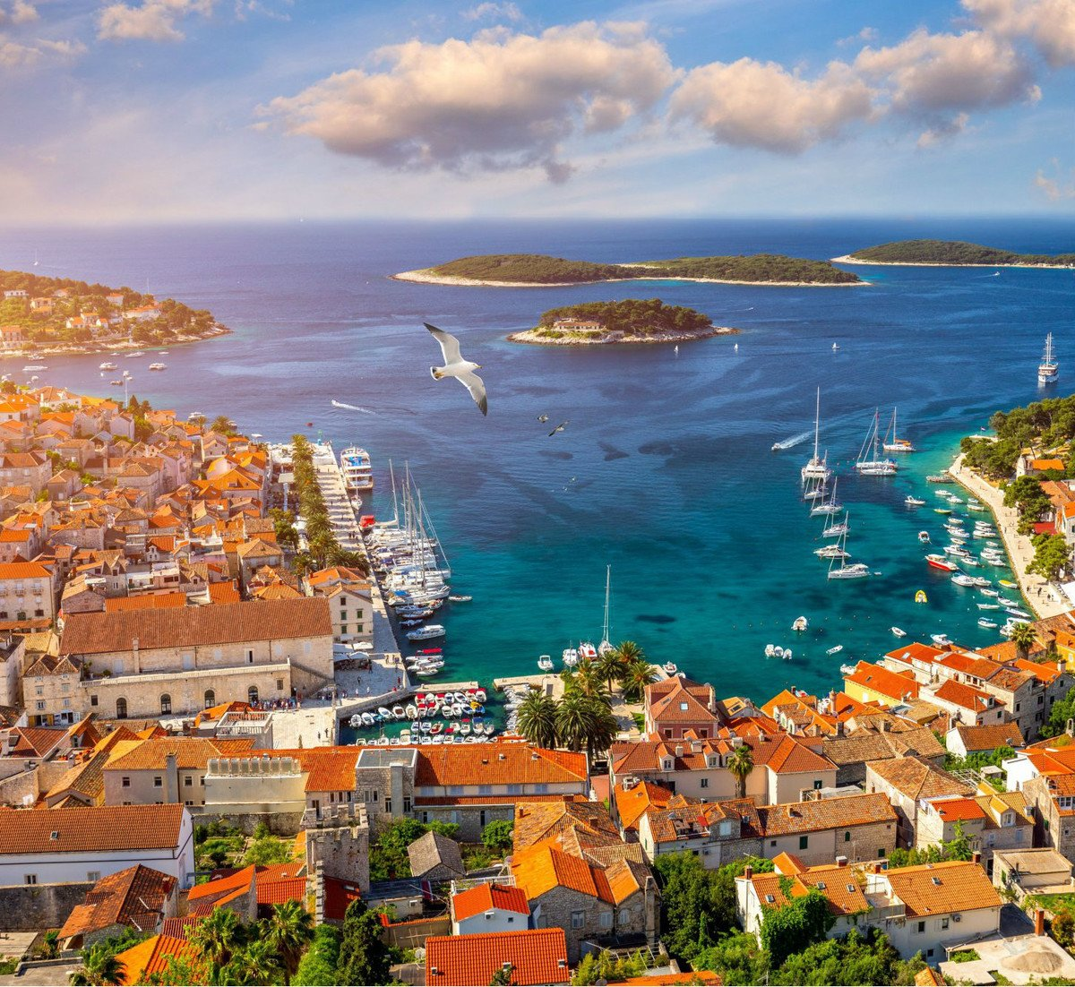 The famous Hvar town  is a must-visit. If you can, do it in the preseason