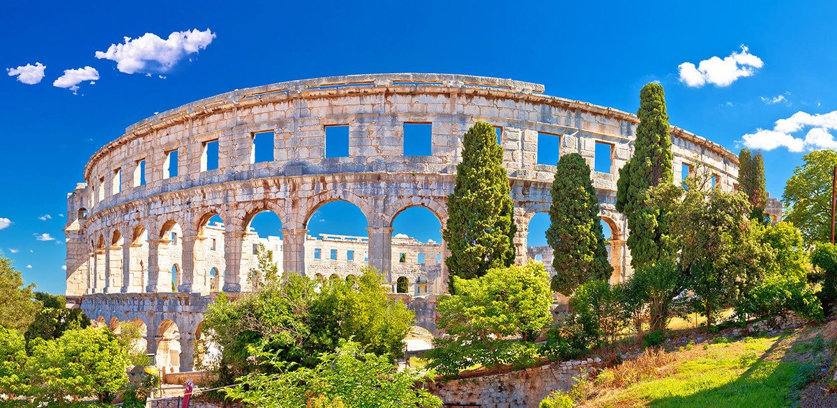 The spectacular Pula Arena