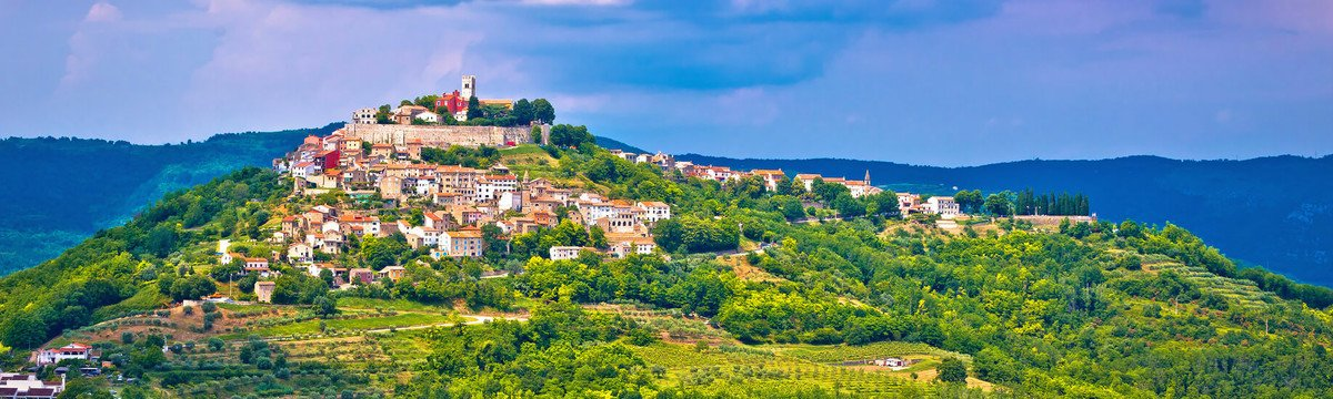 The green and the blue of istria - Town of Motovun